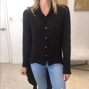 Stillwater button down black blouse